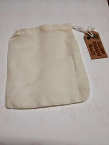 Enhance this gift with a cotton muslin drawstring gift and storage pouch (Optional)