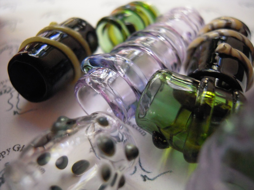 dreadlock beads Pirate Jewels, handblown Austin Art Glass