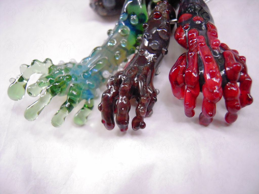 Alien zombie or the bird glass hand pendant dabber alien zombie or the bird glass hand pendant custom options aloadofball Images