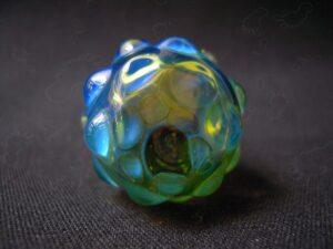 Green Mini Magnifying Stash Jar with Silver fume (5)