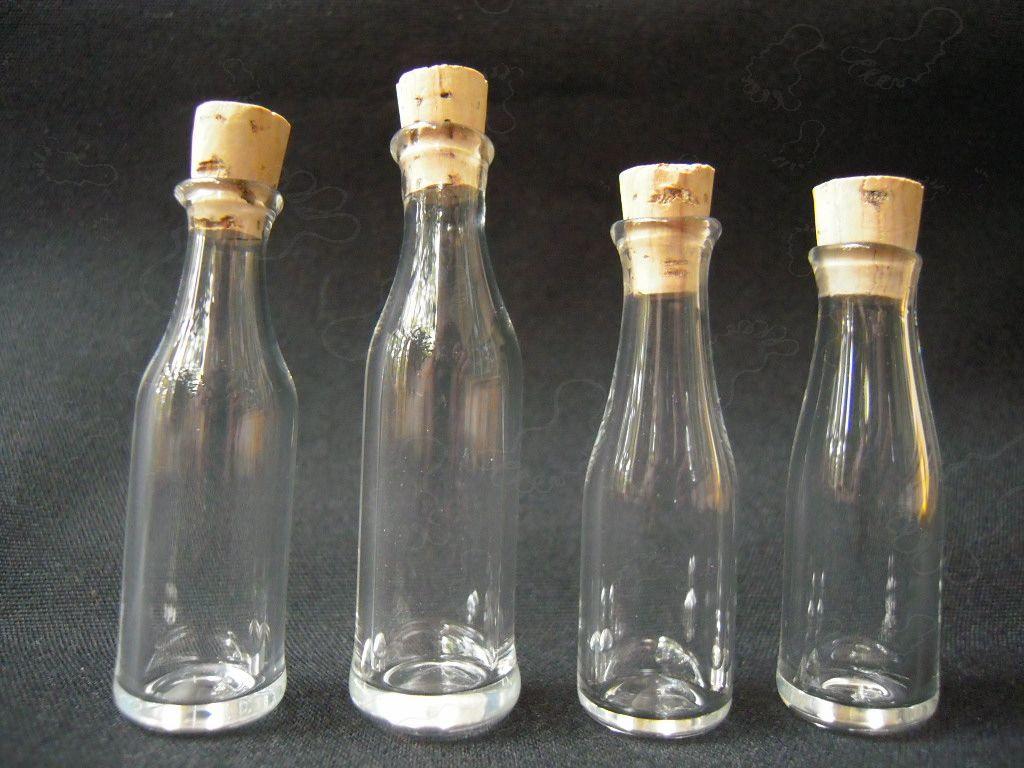 Handblown mini wine bottles for Glass bottles for wine