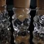 Hand Blown Clear Glass Mini Magnifying stash jars (10)