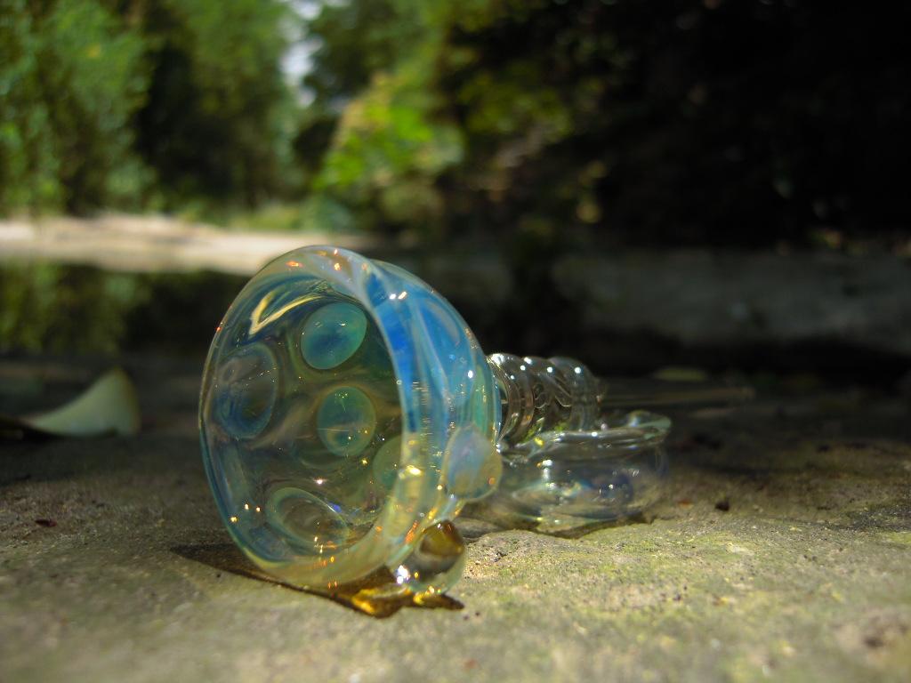 Happy Hollow Glass Quot Stomp The Plastic Habit Quot