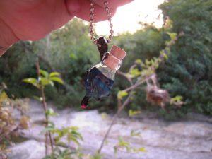 bat wing inspired austin art glass vial pendant congress 1 blown glass bottle pendant